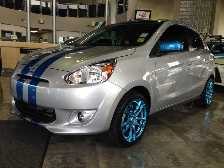 Another customized Mitsubishi Mirage, went with this silver & blue on this one Mitsu.ca