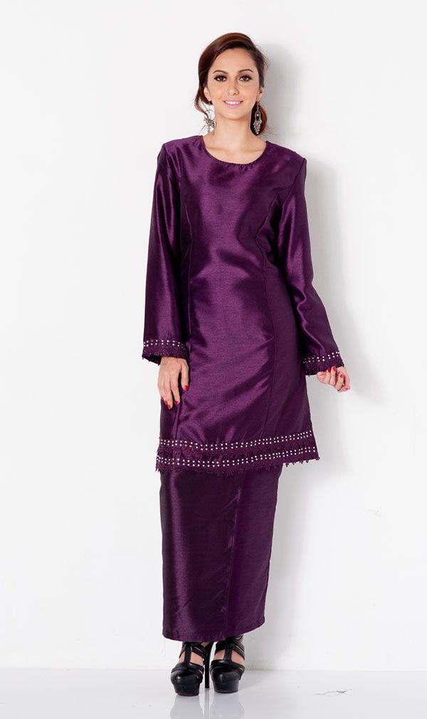 First Lady Plain Beaded Modern baju kurung