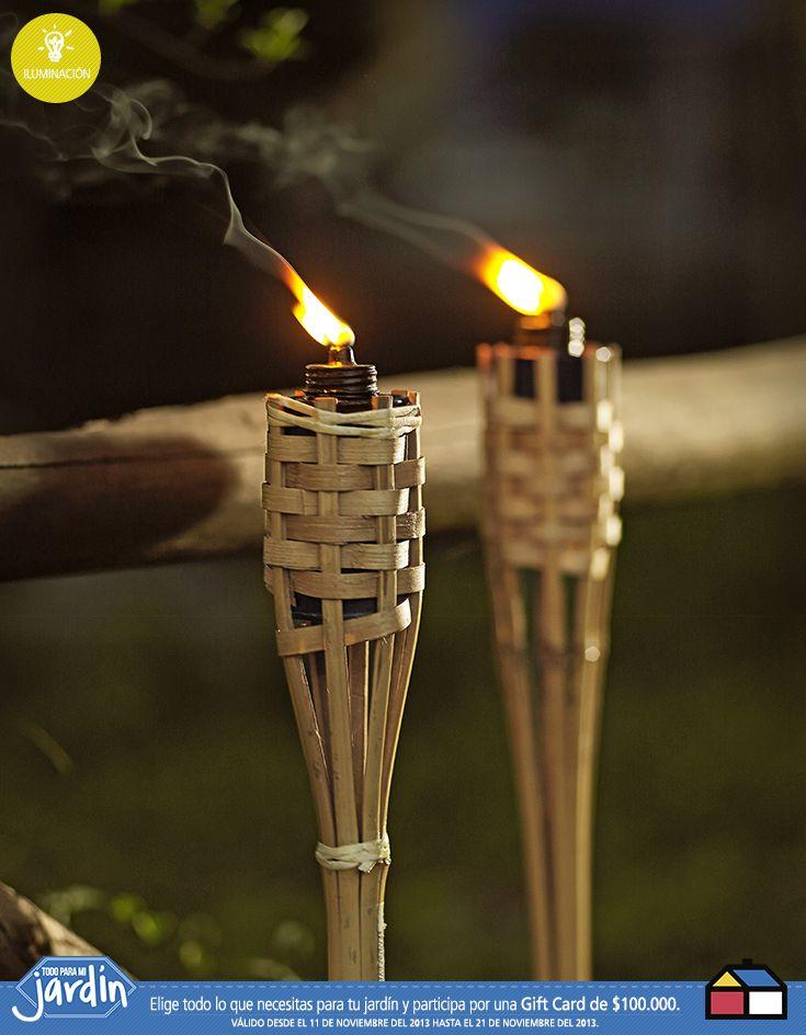 #Antorchas de #Bambu  #Jardin