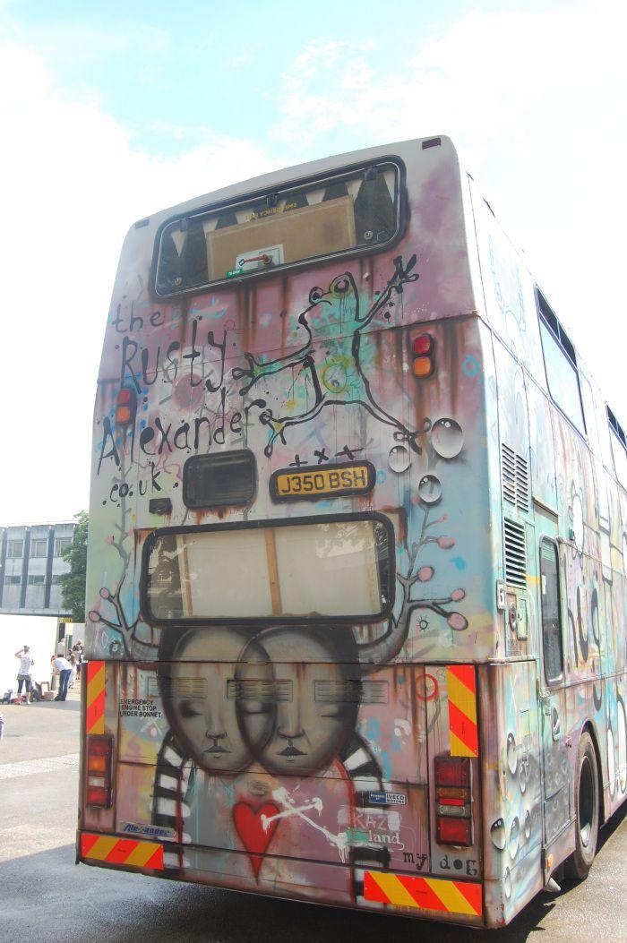 Gloucester Paint Jam 2-3 August 2014 #streetart #Graffiti Festival King's Walk Rusty Alexander Traveling Gallery