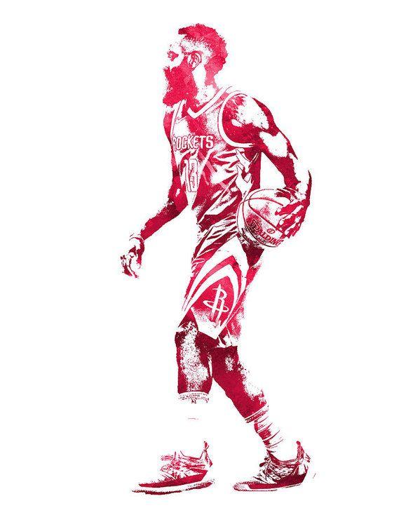 James Harden Houston Rockets Water Color Pixel Art 4 Art Print By Joe Hamilton In 2021 James Harden Pixel Art Houston Rockets