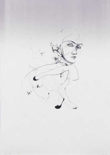 Catherine Raben Davidsen. 'And Then, Bhurrah!'. Lithograph.