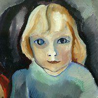 Annetje Fernhout geschilderd door haar moeder, Charley Toorop