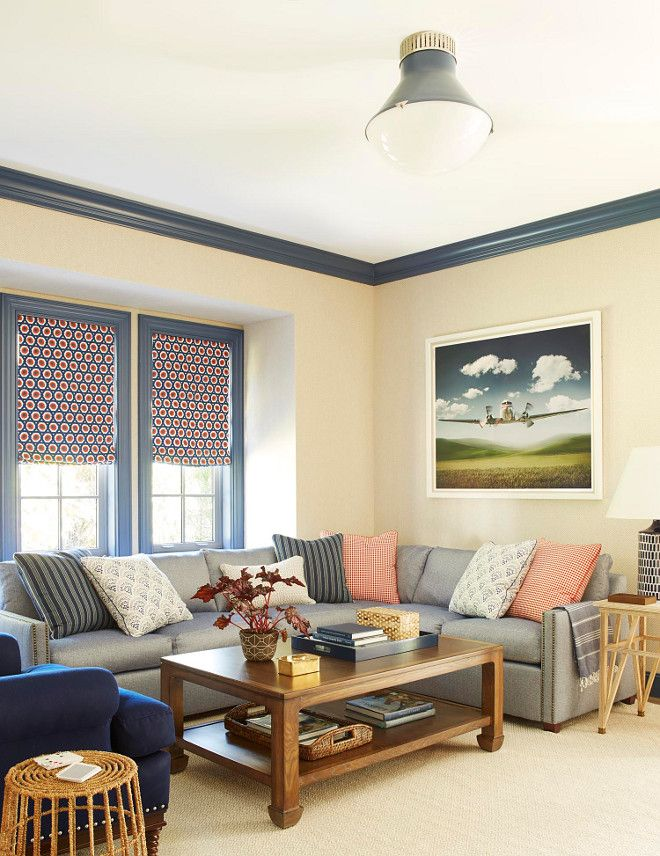 Navy Blue Trim Paint Color Benjamin Moore 840 Kensington