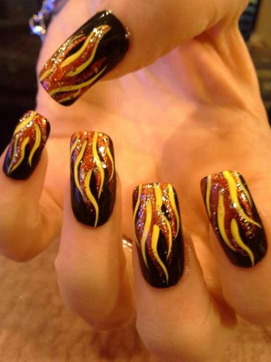 The 25+ best Flame nail art ideas on Pinterest | Fire ...