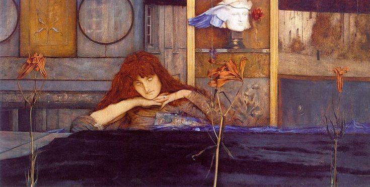 I Lock My Door Upon Myself by Fernand Khnopff: