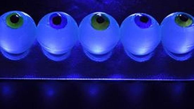 Its Halloween and you need an eeewy hit for your creepy party. Well, gory ones, give these the evil eye: Glow-in-the-Dark Eyeball Jelly Shots!