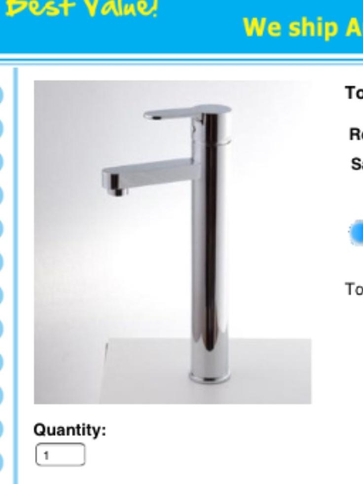 Tall basin taps