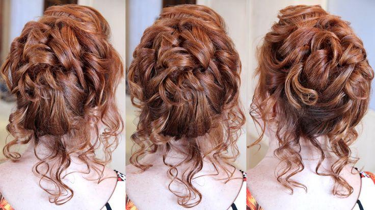 Вечерняя причёска с валиком - средняя длина волос