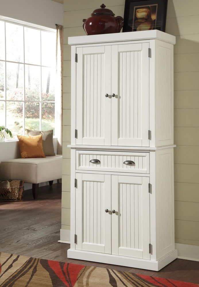 kitchen high end furniture cabinet home styles nantucket pantry distressed white h home on kitchen organization cabinet id=63700