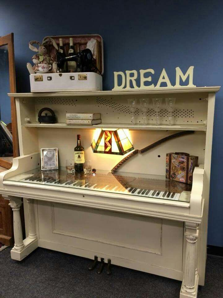 Repurpose your old piano.