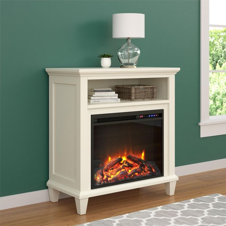 Ameriwood Home Ellington Electric Fireplace Accent Table 32 Inch TV Stand ( 32 Inch