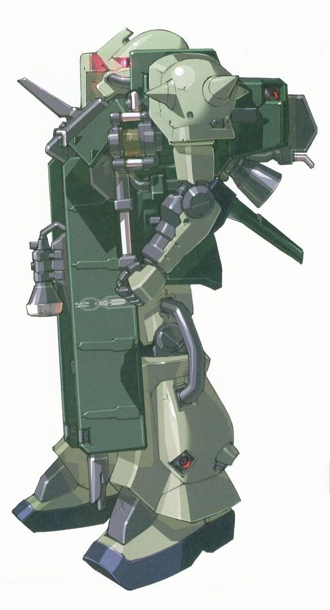 MS-06F Zaku II [Stutzer] is a custom variant of the standard MS-06F Zaku II created by Zeon remnants. It first appeared in the photonovel Advance of Zeta: The Flag of Titans.