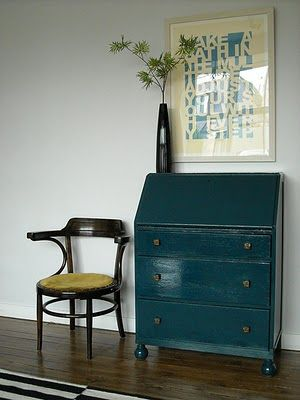 a dresser make over in Hague Blue paint by Farrow Ball. on my to do list!