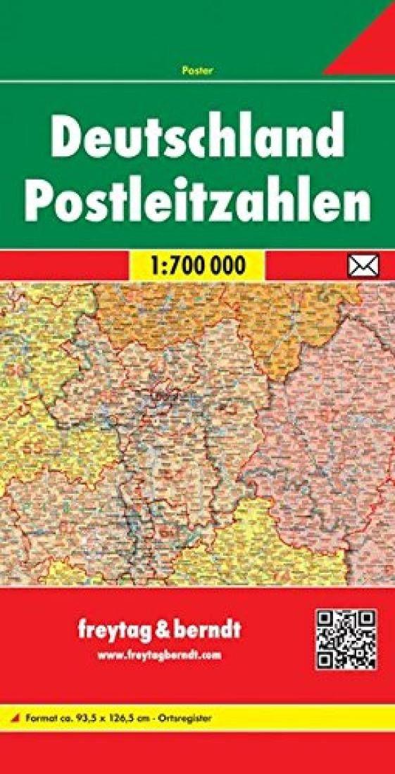 Germany, Postal Codes by Freytag-Berndt und Artaria