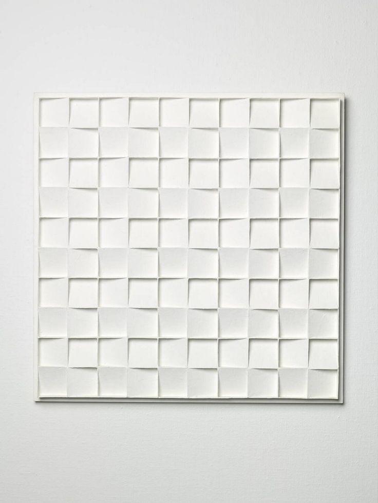 Kwadratenreliëf, 3de opvatting, Jan Schoonhoven, 1967 | Museum Boijmans Van Beuningen