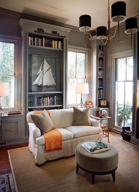 Casagiardino In The Savannah River House Pluff Mud Colored Walls Library Recall Marshes Outside Southern Homes Gardenandgun Photo Credit