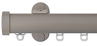 Renaissance 28mm Distinction Metal Curtain Pole, Light Grey, Endcap