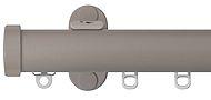 Renaissance 28mm Distinction Metal Curtain Pole, Light Grey, Endcap