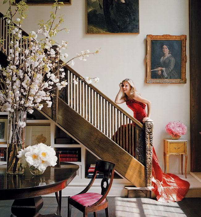 love this. Valesca Hermes at Hotel des Artistes...Decor, Flower Branches, Favorite Places, Zsa Zsa Bellagio, Chic Home, Style, Interiors Design, Staircas, Valesca Hermes