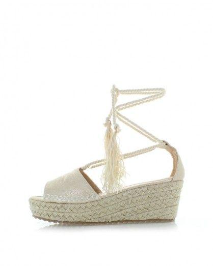 Zlaté platformové sandály Jovanna