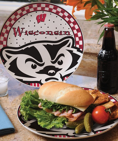 Take a look at this Wisconsin Game Day Ceramic Plate by The Memory Company on #zulily today!