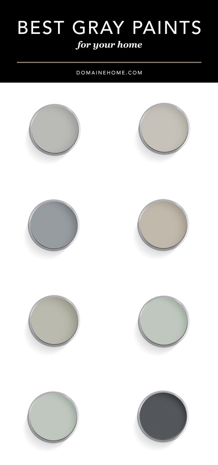 Ultimate Guide To The Best Designer Approved Gray Paint Colors Home Sweet Home Pinterest