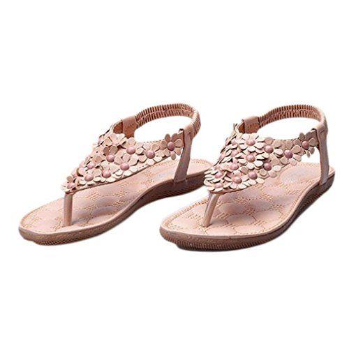 Bohemia Slides Sandale für Damen Offen-Toe Flat Slip on Shoes Beach Slipper GTNXtiY