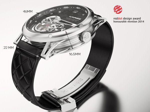 •Caso: 46mm de diámetro x 16.5 mm de altura •Banda: 22mm de ancho (reemplazable) •Movimiento: MSW 115: 82S7 Miyota, 42 horas de reserva de marcha, 21600 bph, 21 rubíes. Movimiento automático. •SSW 158: Soprod A10BV-2 movimiento automático suizo, 28800 HBP, 25 rubíes, reserva de marcha de 42 horas •Materiales: acero inoxidable de 316L, correa de cuero genuino •Vidrio cristal zafiro •Agua resistente a 3 ATM kairos_watch2