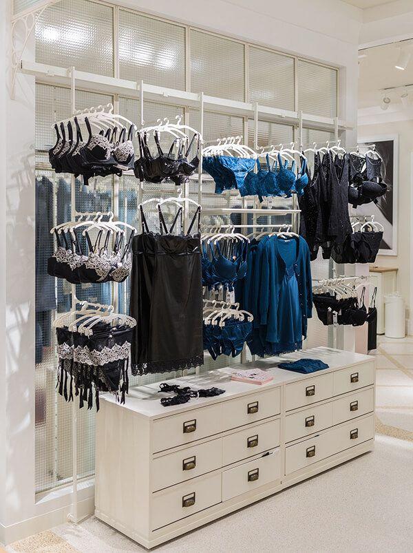 lingerie retail store displays
