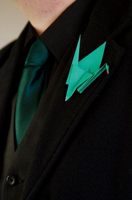 Origami boutonniere