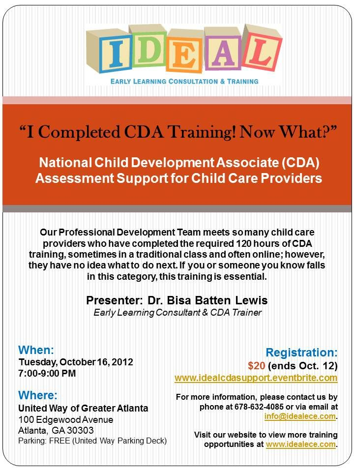 have you completed child development associate (#cda) #training ...