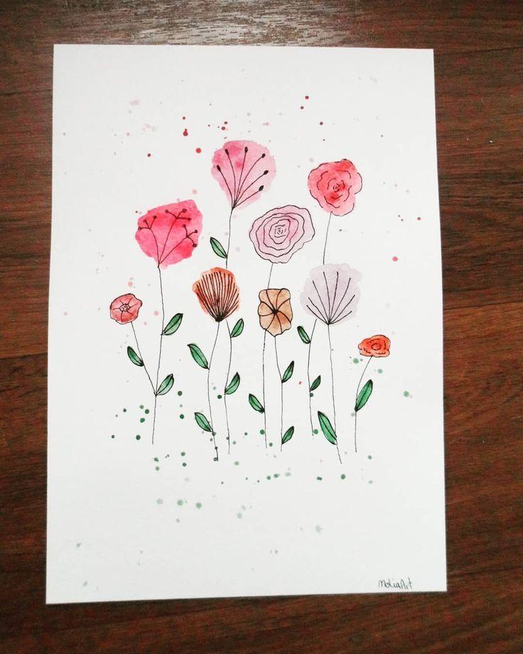 Would look lovely framed I think – Gruß- Kunstkarten – Motive……… – #Frame… – Blumen