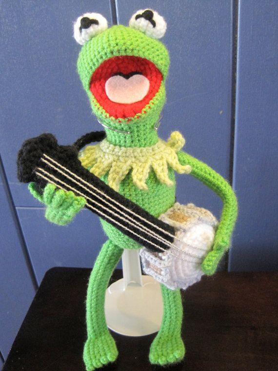 Kermit der Frosch inspiriert Amigurumi von LAMSwoolCrochet auf Etsy