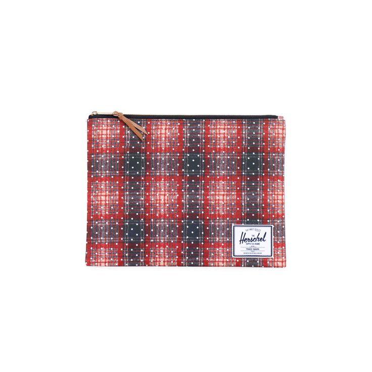 Porta Tablet Herschel Network XL Wallets Classics Rosso Blu
