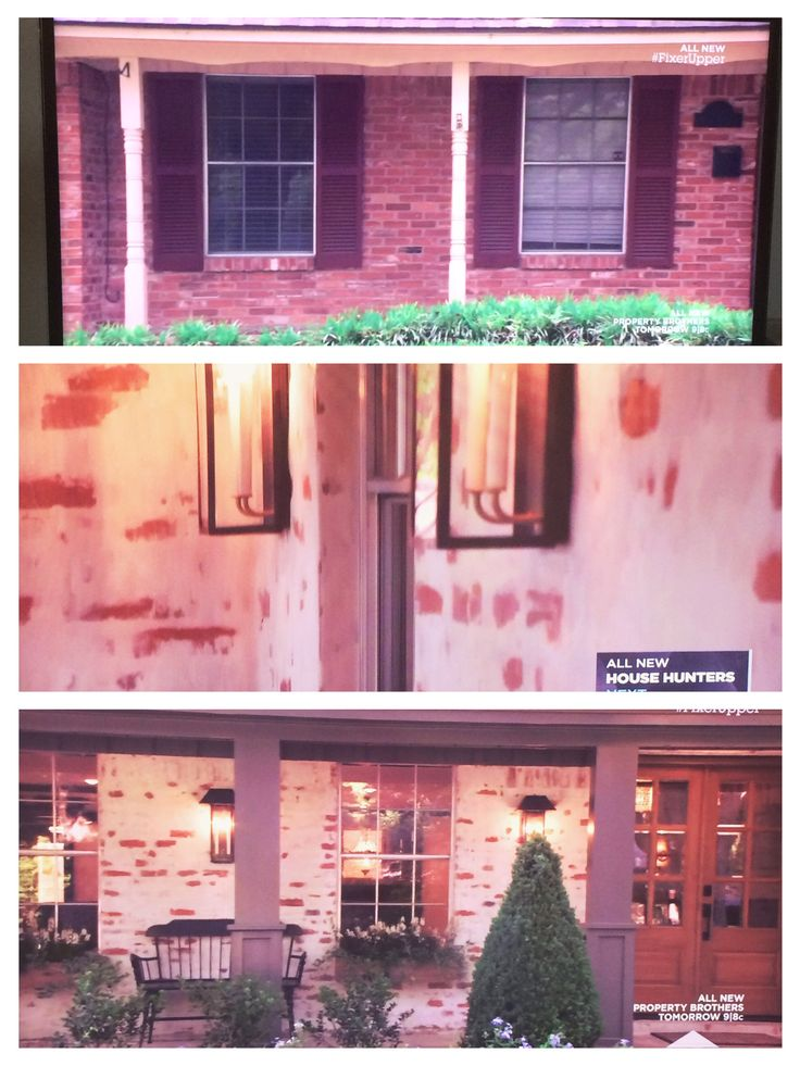 "Found this brick technique called ""German Smear"" on HGTV Fixer Upper Newlyweds Episode"