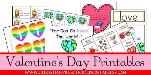Free Valentines Day Printables on Christian Preschool Printables