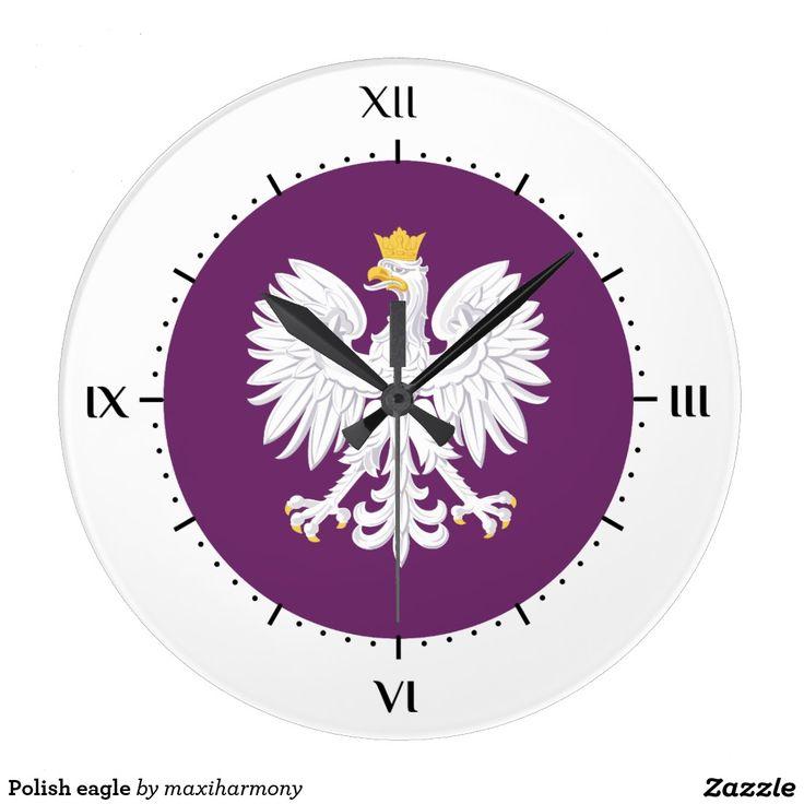 Polish eagle wall clocks