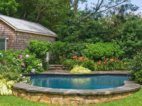 landscaping around a pool google search