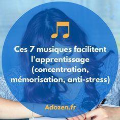 Nous vous invitons à tester l'écoute de 7musiques qui faciliteront votre apprentissage et votre capacité de concentration.