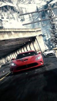 Pędzący czerwony samochód