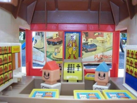 Playskool McDonald's Playset...also loved this one and all its little details like the bathrooms and trashcans.