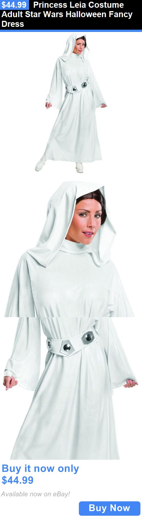 Halloween Costumes Women: Princess Leia Costume Adult Star Wars Halloween Fancy Dress BUY IT NOW ONLY: $44.99