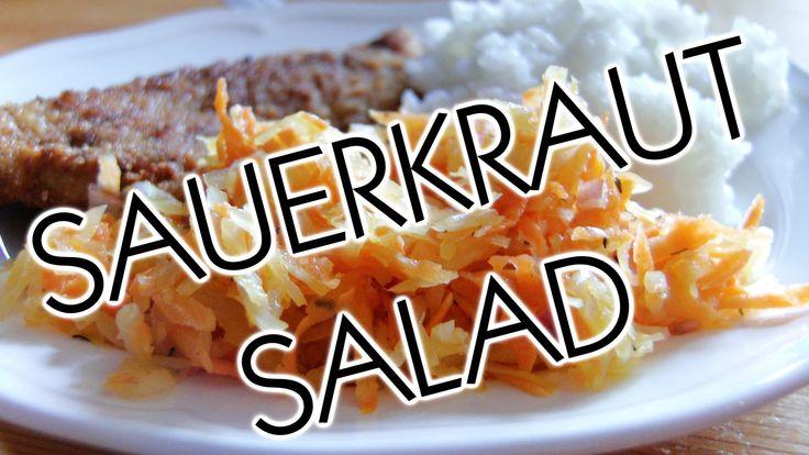 Polish Cooking: Sauerkraut salad