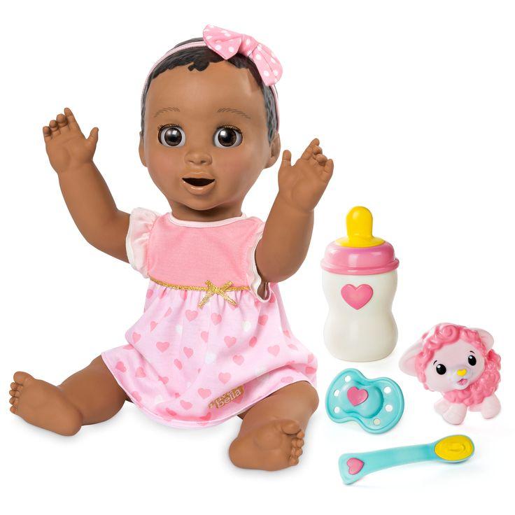 Luvabella Responsive Baby Doll Dark Brown Hair
