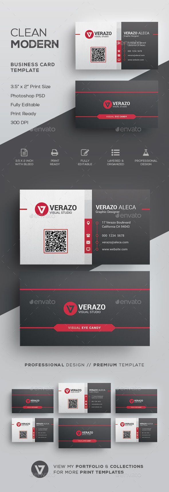 Creative Modern Business Card Template - #Corporate #Business #Cards Download here: https://graphicriver.net/item/creative-modern-business-card-template/19704349?ref=alena994