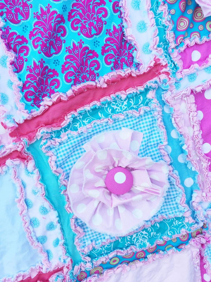 Girl Baby Quilt Pink Turquoise Crib Comforter Bedding – A Vision to Remember