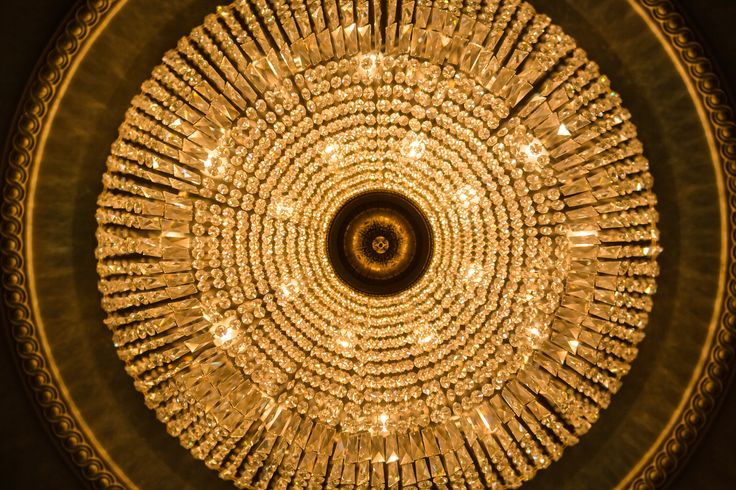 Many opulent chandeliers adorn The Landmark include six of this style in the Grand Ballroom. Photo Credit: Richard Barlow Photography