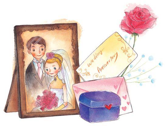 Рисунок родителям на годовщину свадьбы 19 лет, конверт