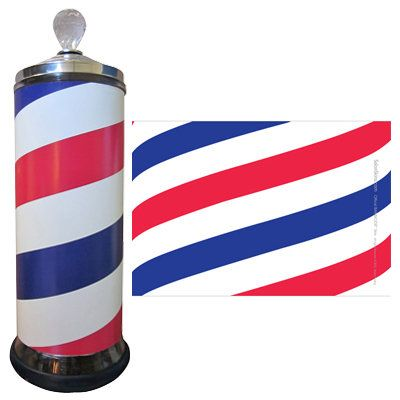 Transform your Barbicide jar into a barber pole with the Barber Pole Salon Skin. This skin creates the look of an authentic barber pole for new school stylists or old school barbers.